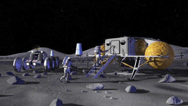 Lunar Outpost concept by NASA