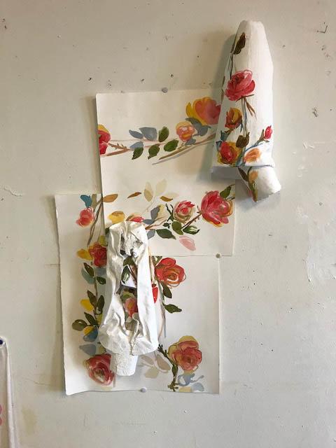 Juul van den Heuvel, Evening dress with roses deconstructed, 2018