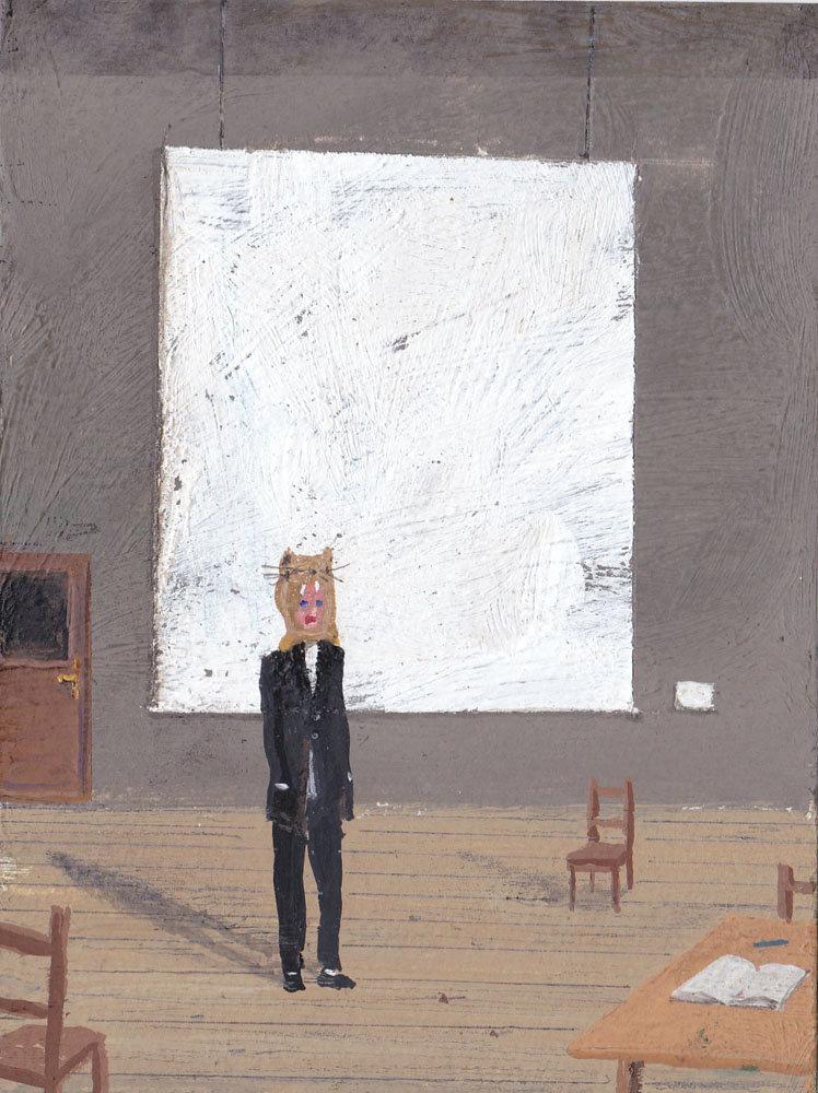Paul Nassenstein, The artist in his studio nr 25, 2016