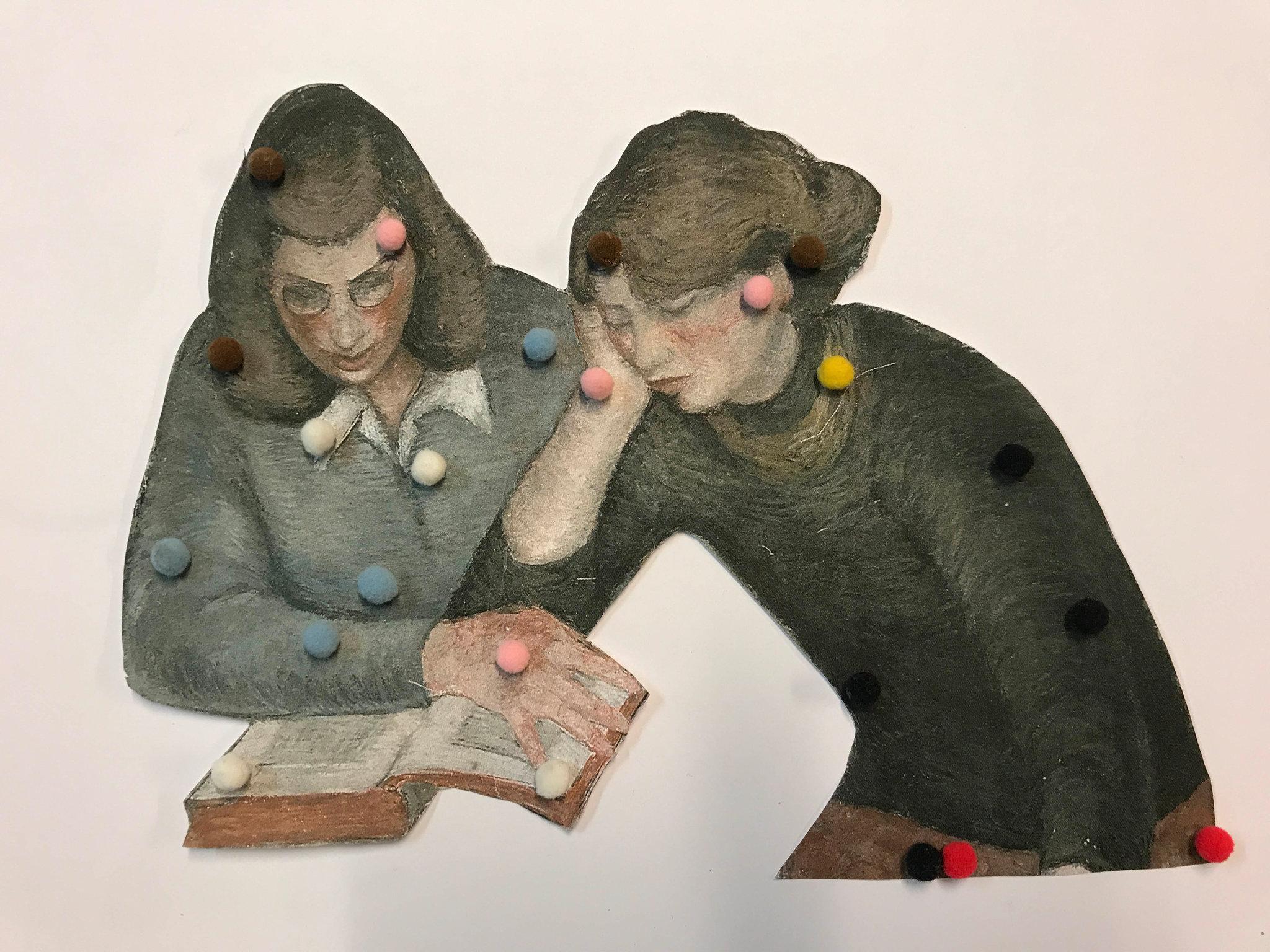 Juul van den Heuvel, Two girls reading, 2018