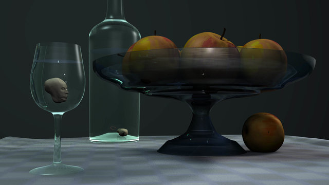 Jef Nassenstein, Still life with apples, 2012