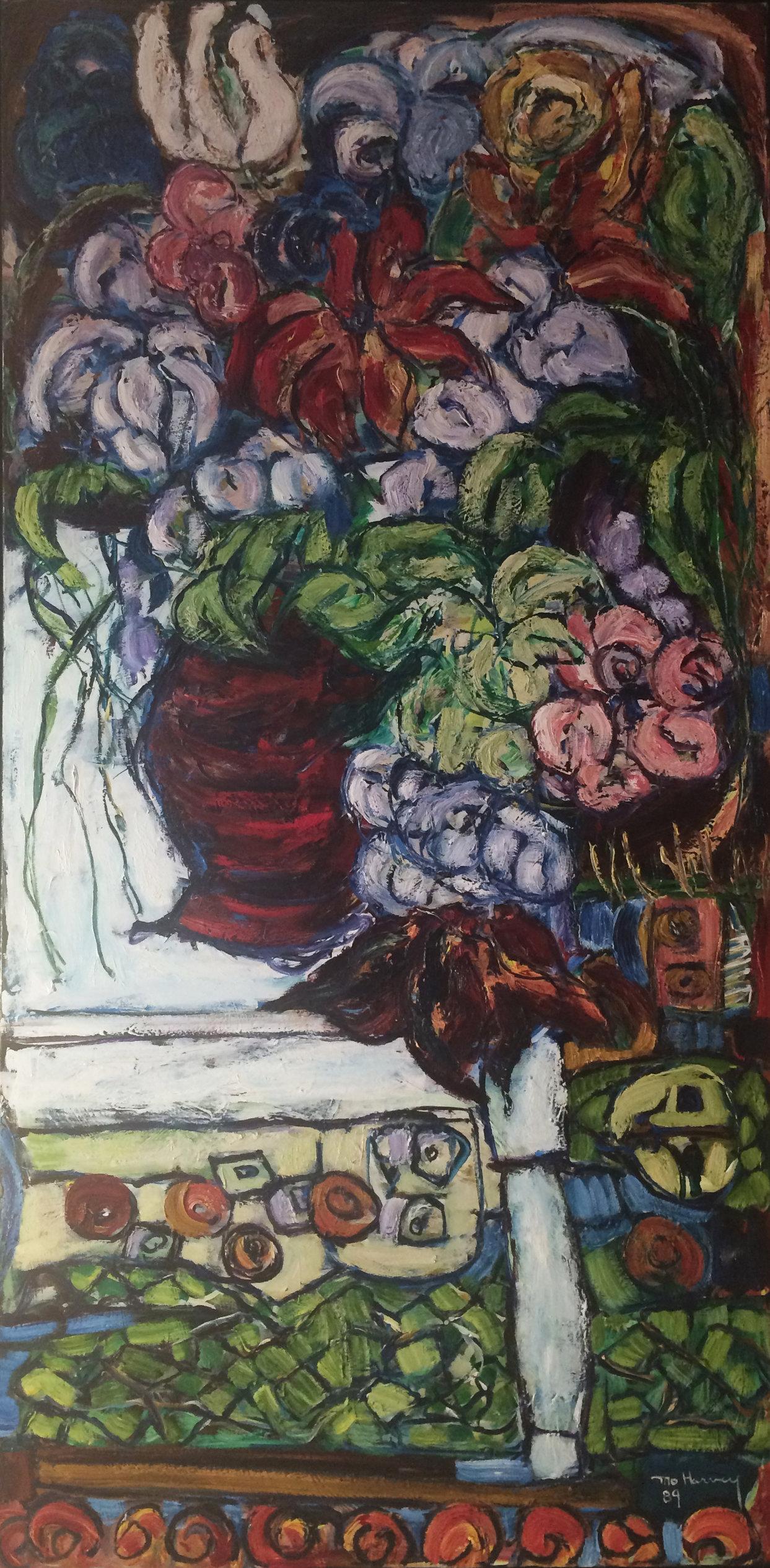 Les Fleurs, La Table, et Le tapis