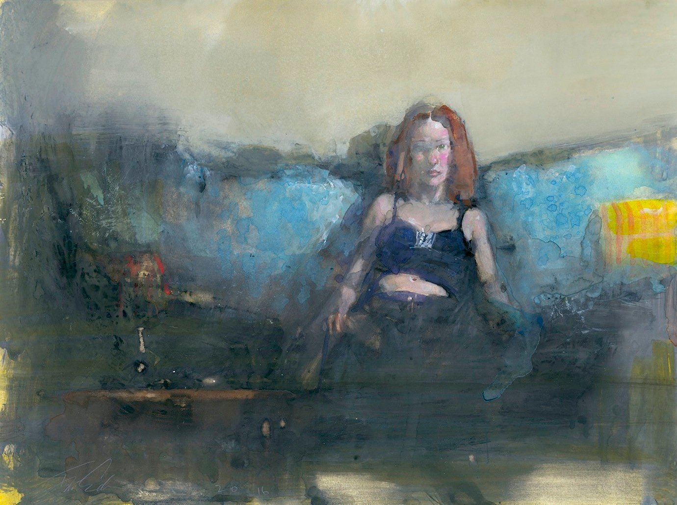Redhead on Blue Sofa- Felipe Echevarria.jpg