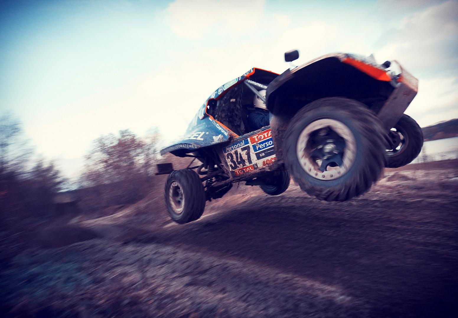 Dakar Buggy Coronel voor TopGear