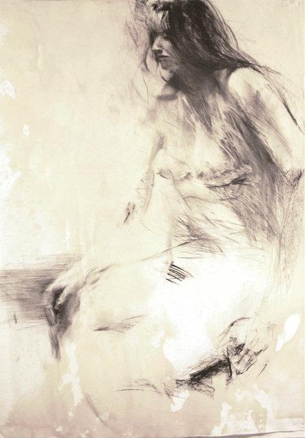 Kobieta siedząca2, rys. węglem 70x100 2009