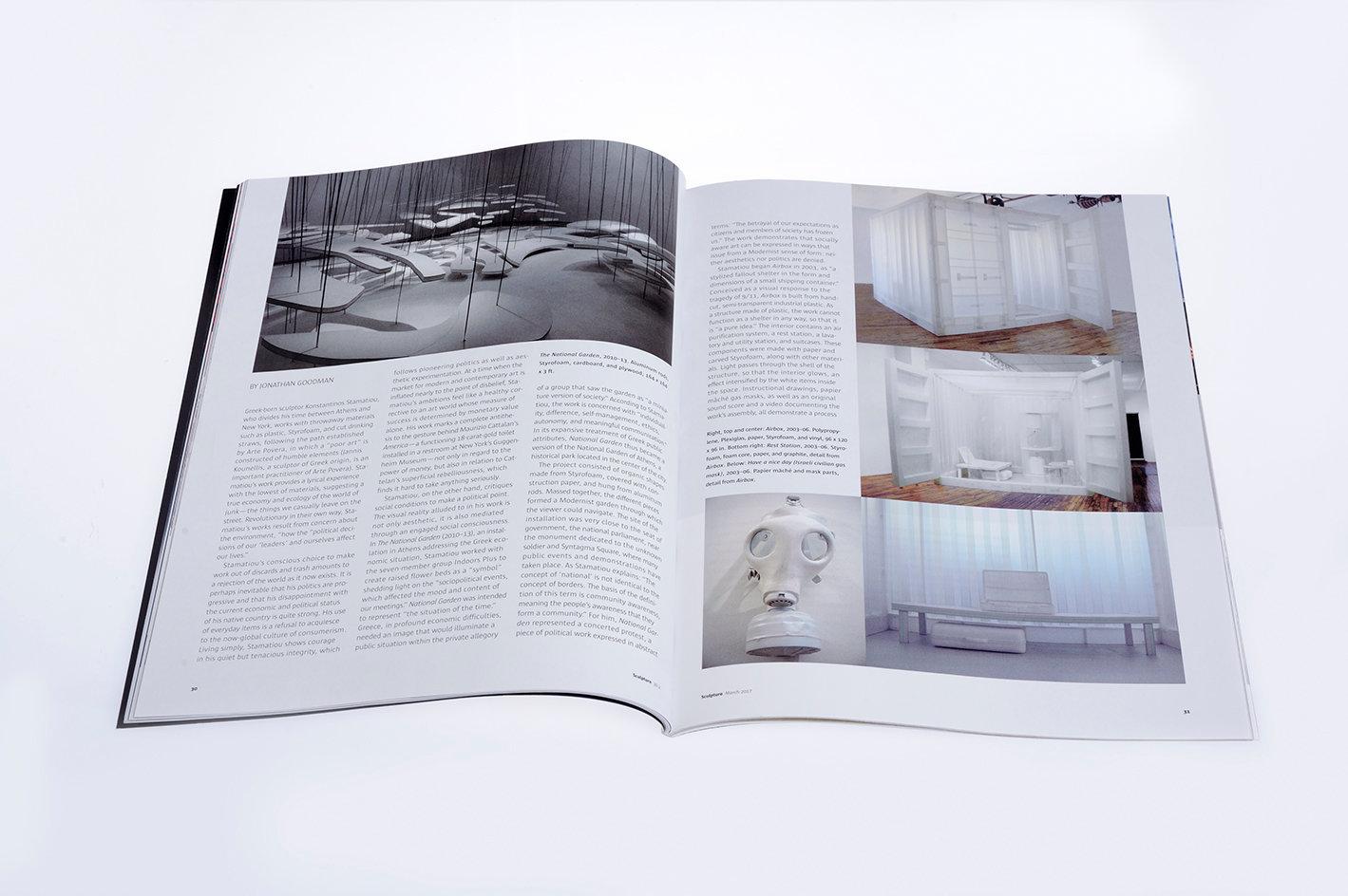 Sculpture magazine, third_fourth page
