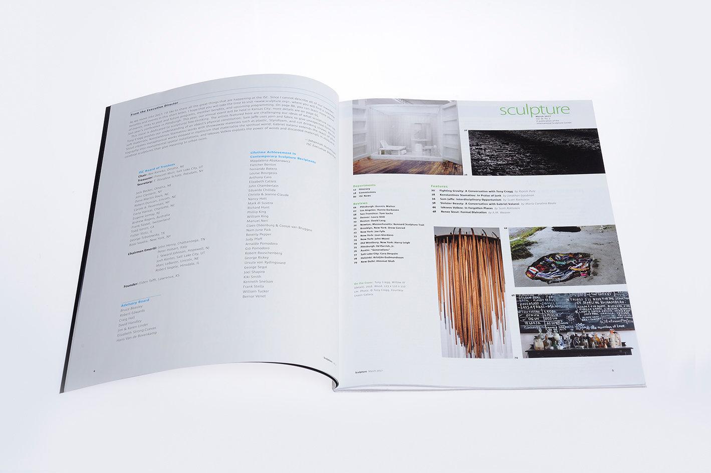 Sculpture magazine, index