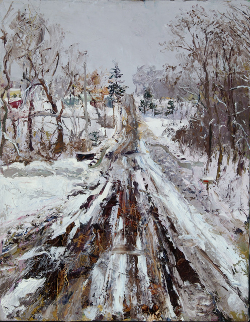"Winter Road,  24 x 20"" sold"