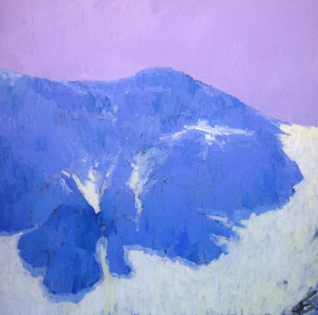 Above Thomas Lake, 2013, Acrylic on Canvas, 72 x 72 in.