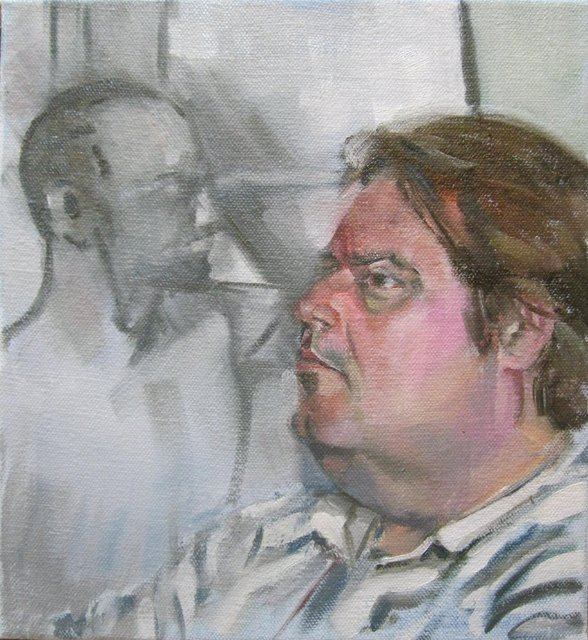 Jason with Paul R's Drawing (November)