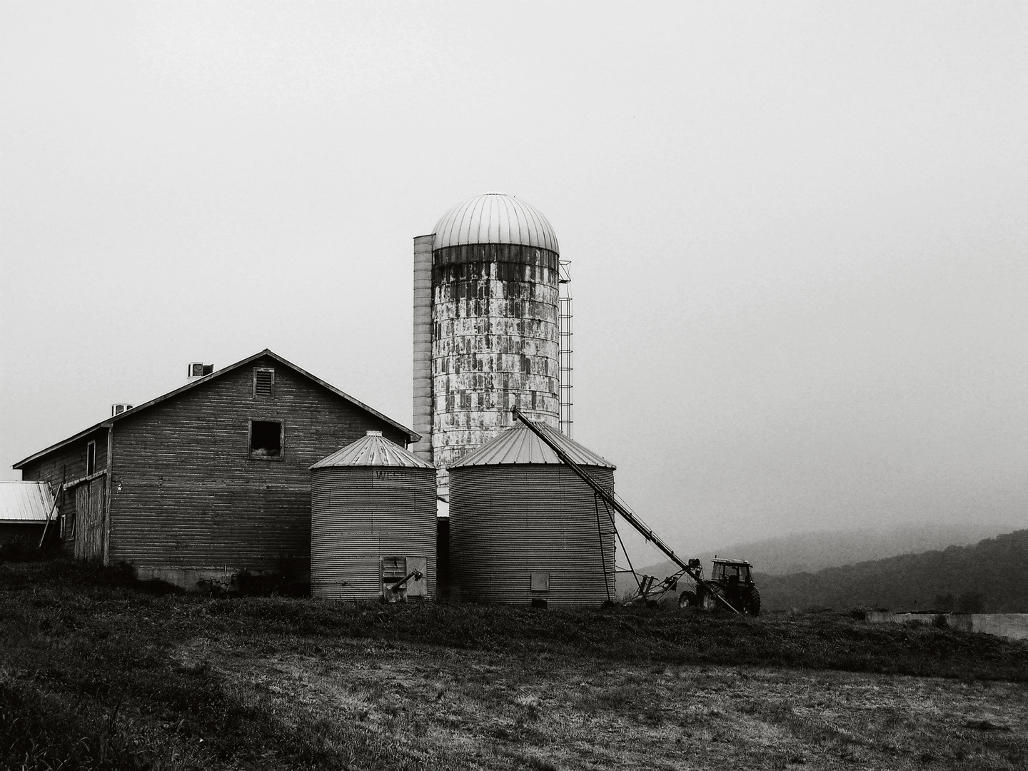 Grain Bins and Barn, Craryville New York