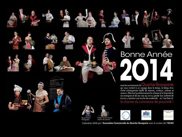 Photos pour la calendrier des commercants de la rue Bonaparte.