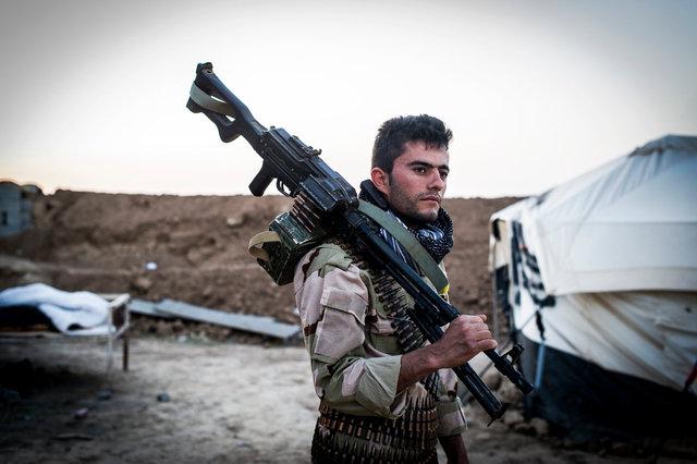 Peshmerga, Makhmour frontline, Iraqi Kurdistan 2015