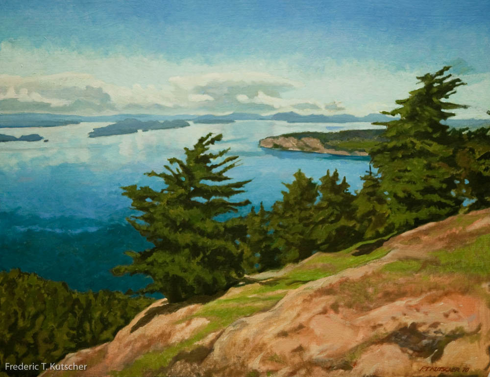 From the Top of the Turtlehead (Orcas Island to Canada)