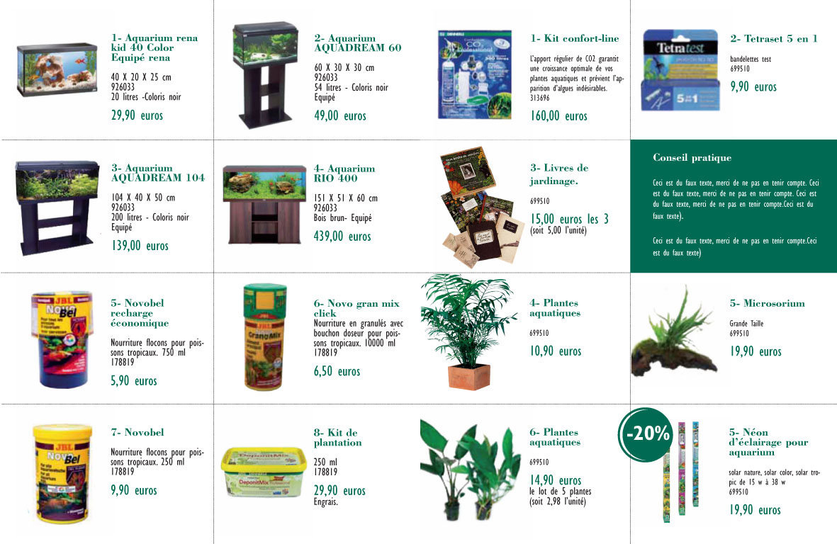 "<font color=""#aaa7a6"">Guide animalerie, prospection (produits)</font>"