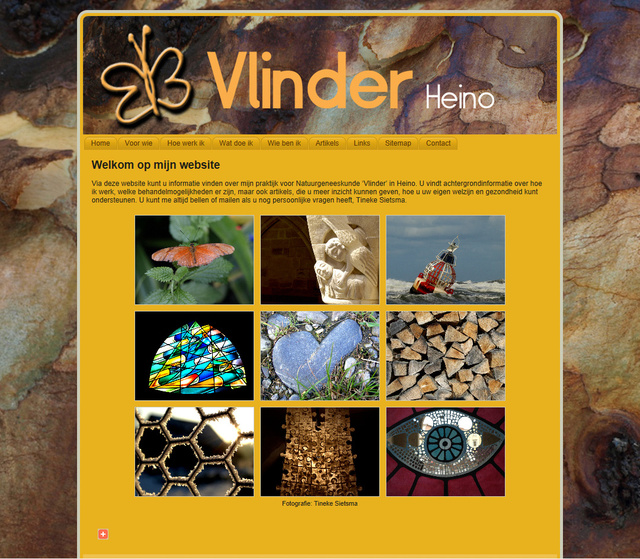 Webdesign for Vlinder Heino