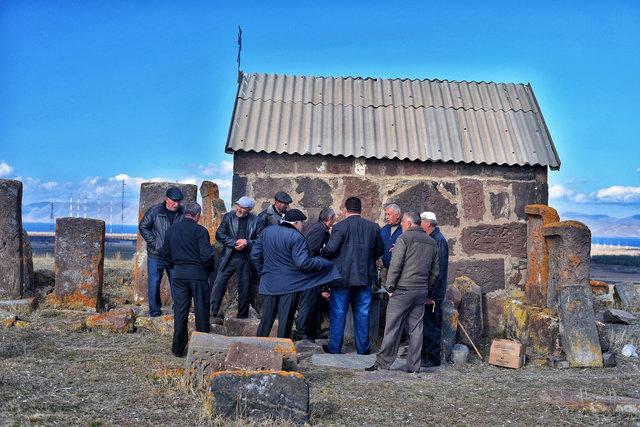Alte Männer in Armenien