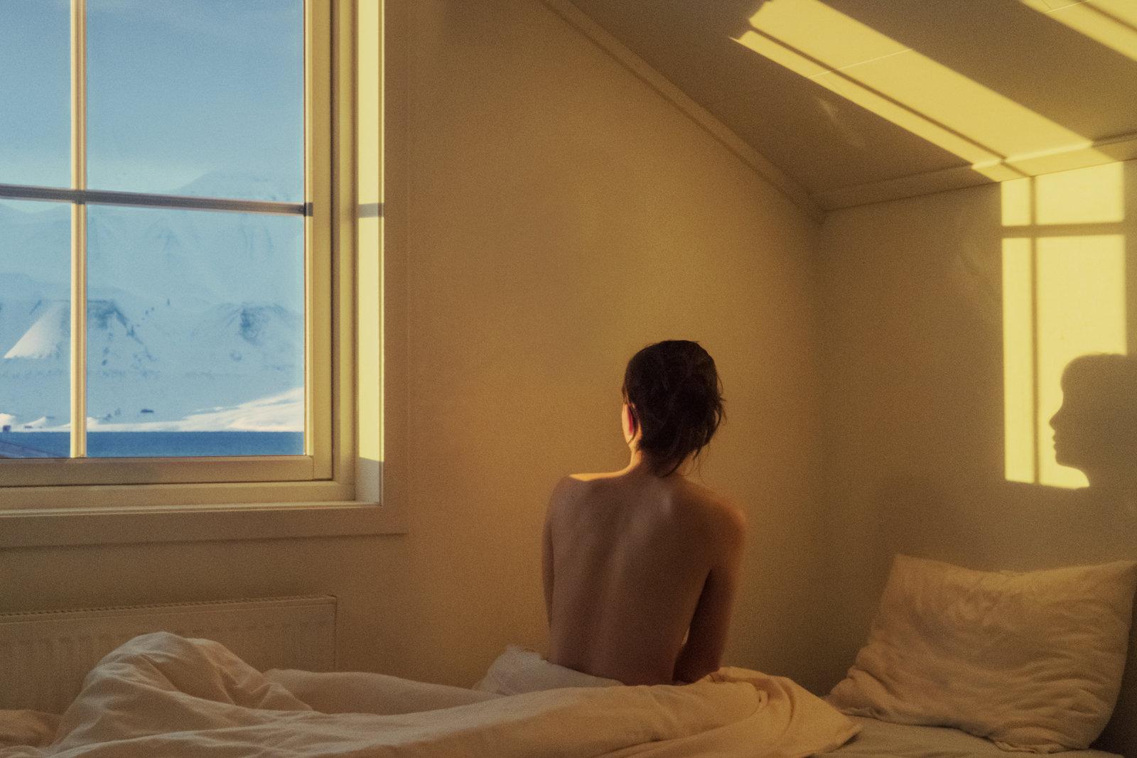 self-portrait in Svalbard