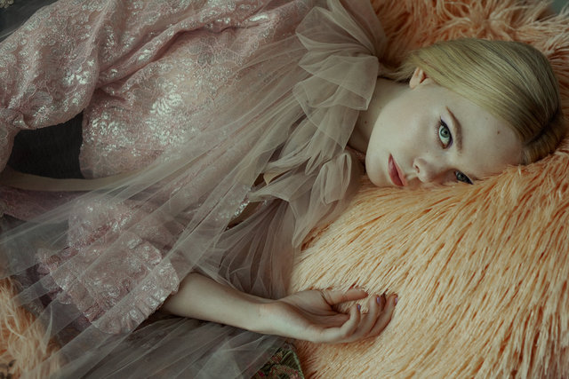 Elle Fanning for Glamour Spain cover story December'19