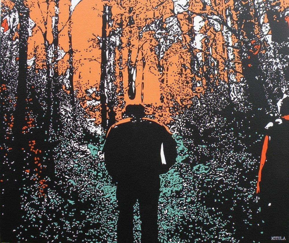 pomarańczowe popołudnie, akryl na płótnie, 50 x 60, 2009r