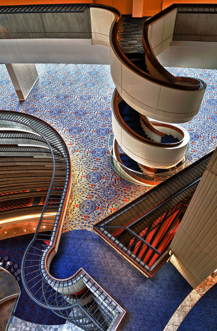 Marriott Marquis Spiral Staircase Down