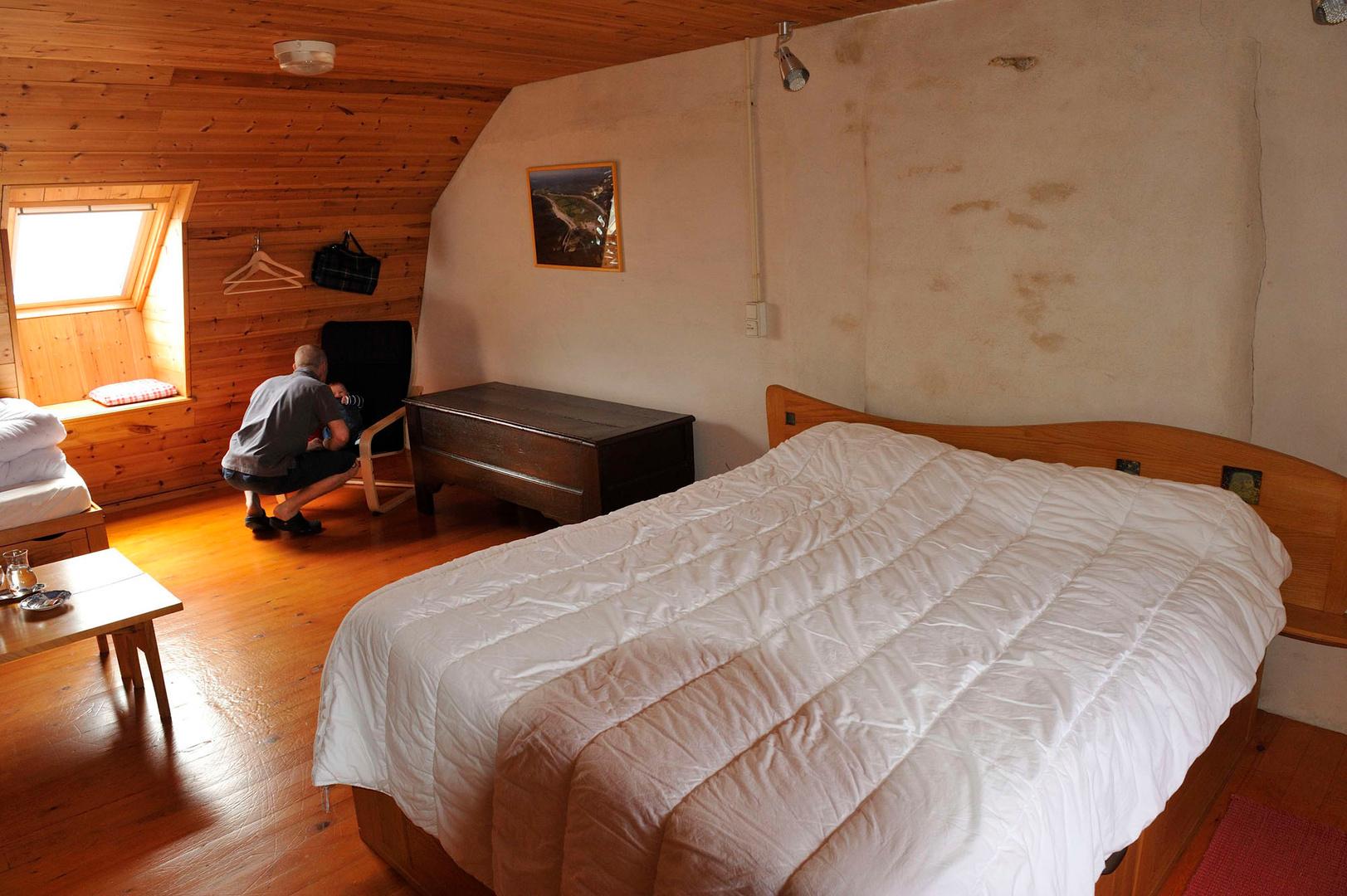 Les chambres sont très confortables avec vue sur mer des deux côtés