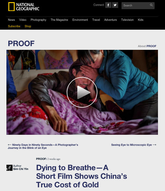 Dying to Breathe - Published on National Geographic Proof