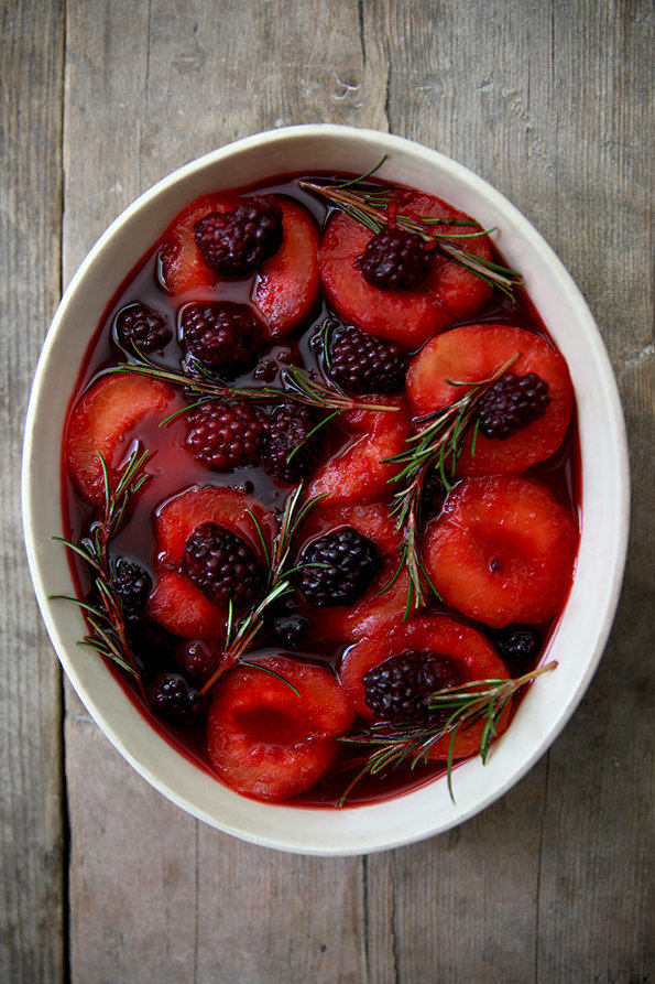 Rosemary, Plum and Blackberries