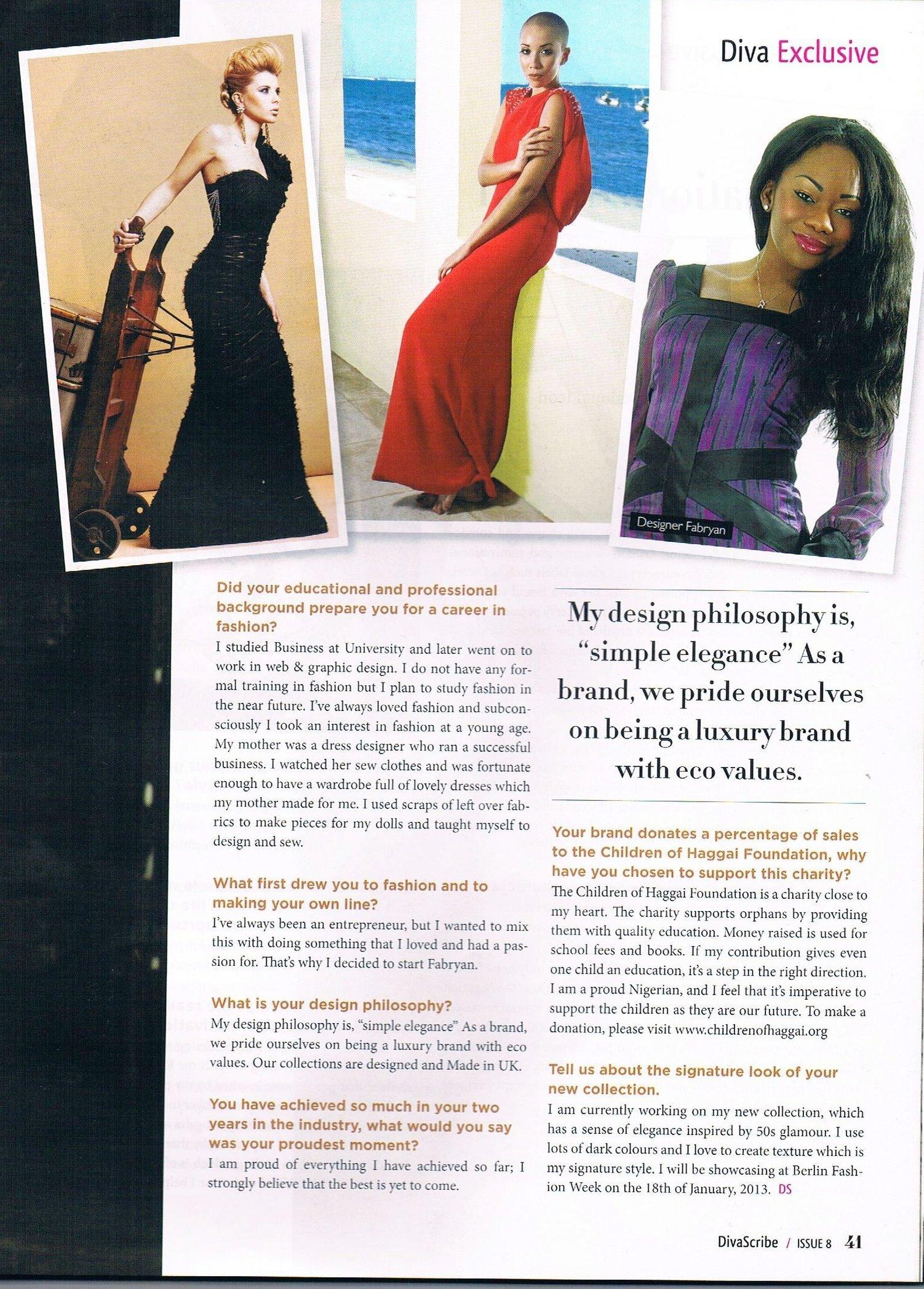 Diva Scribe magazine
