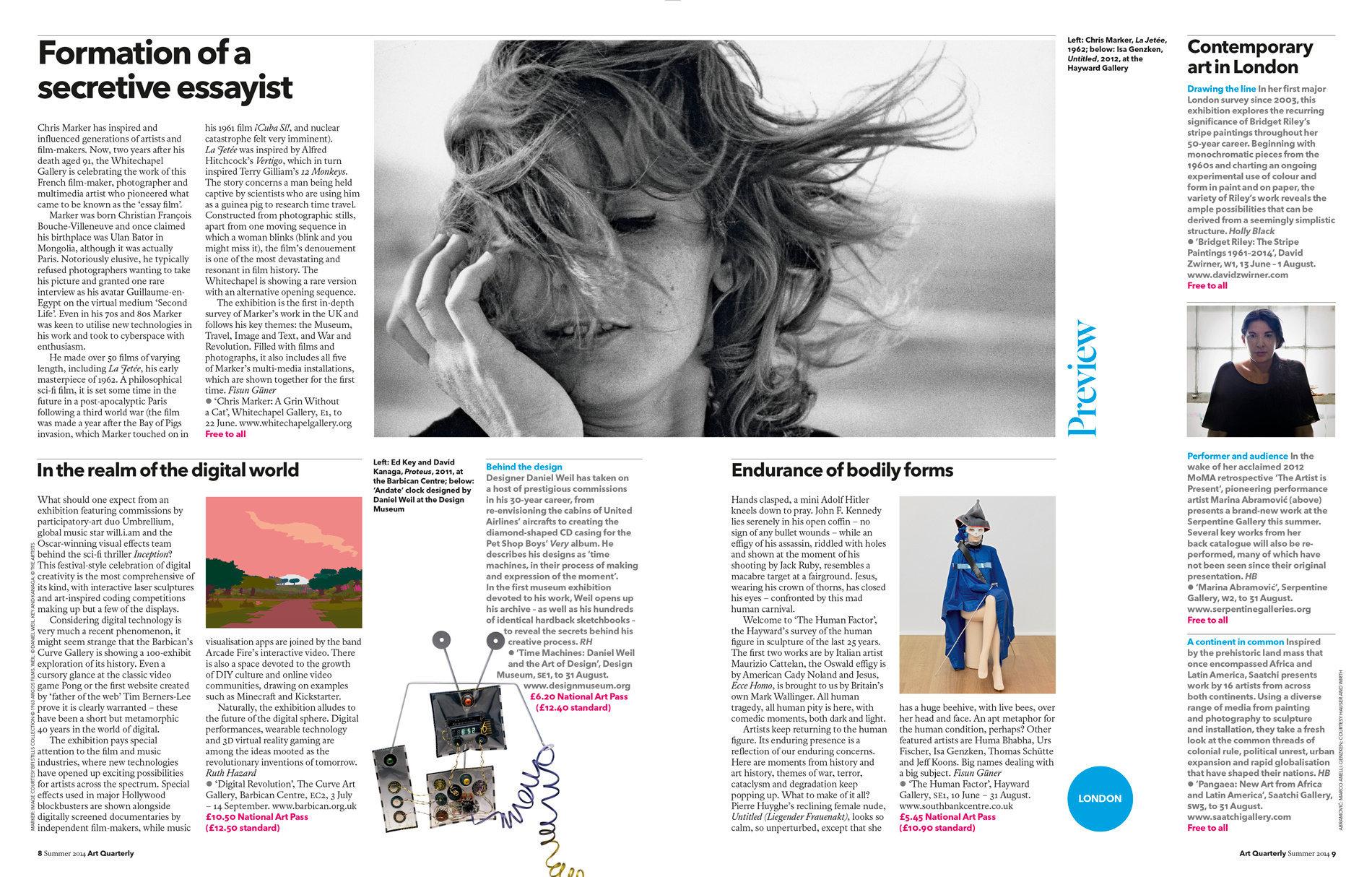 Art Quarterly Summer 2014