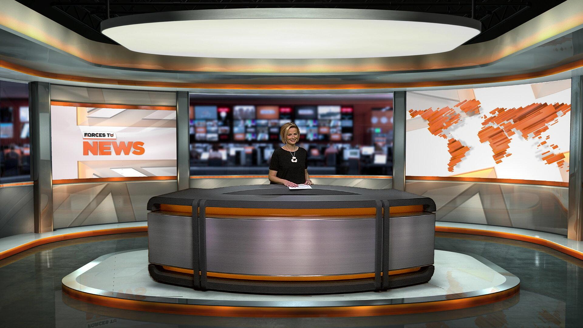 Forces TV - Virtual set / Real Desk