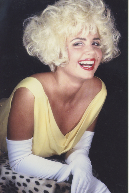 MISS COLUMBIA-   VICKIE BOWMAN  She is styled as the late MARILYN MONROE.