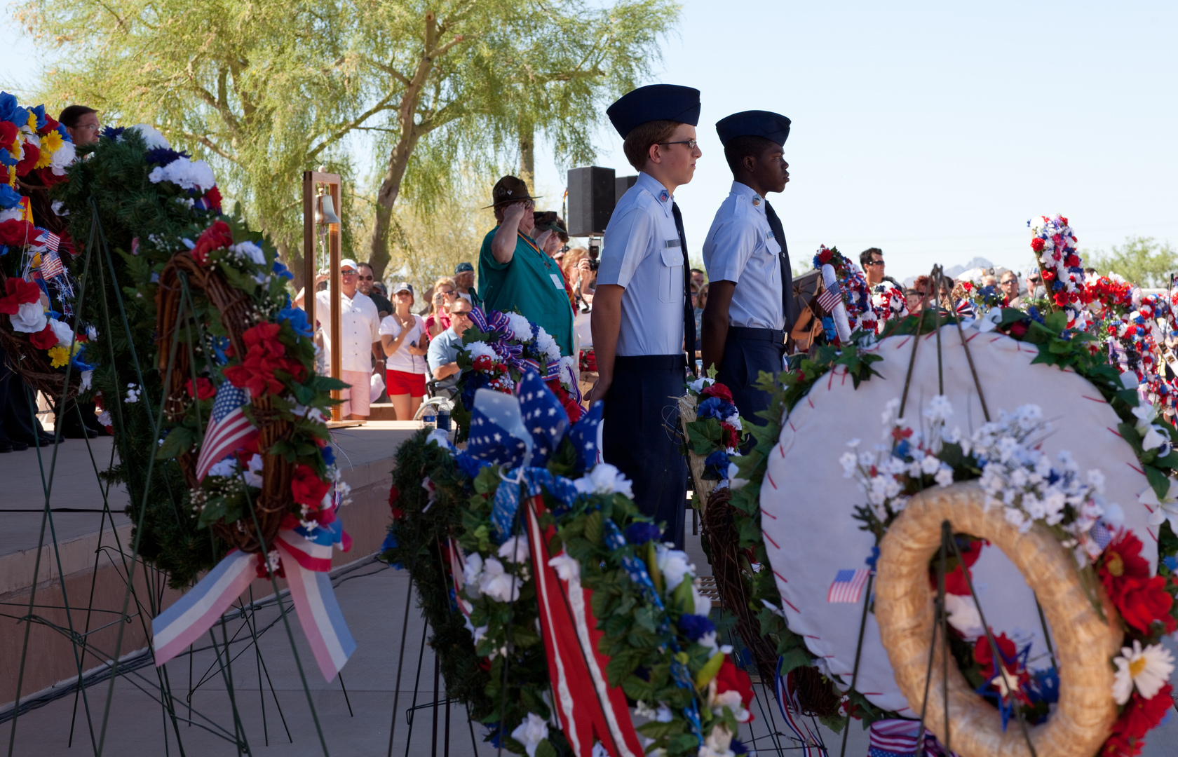 JRTOC During the Placing of the Wreaths