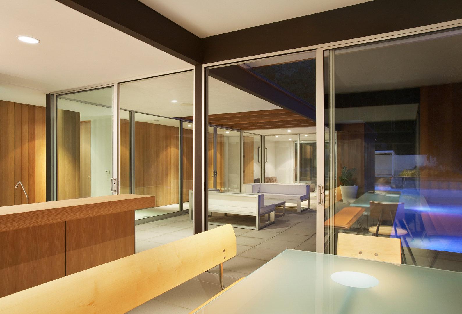 Sunset Plaza Residence | Kitchen Night View