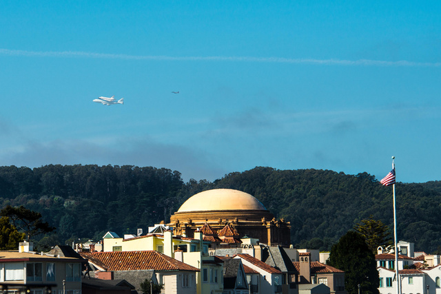 Endeavor over the Palace of Fine Arts