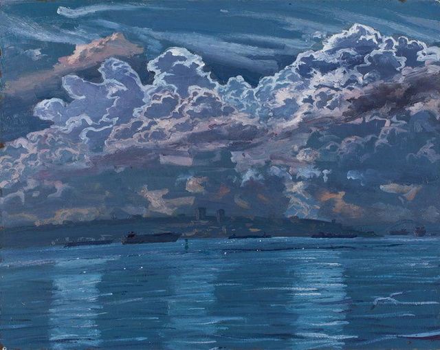 "Clouds Over Staten Island  30 x 38"" sold"