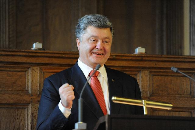 President Petro Poroshenko of Ukraine, Leiden november 27, 2015