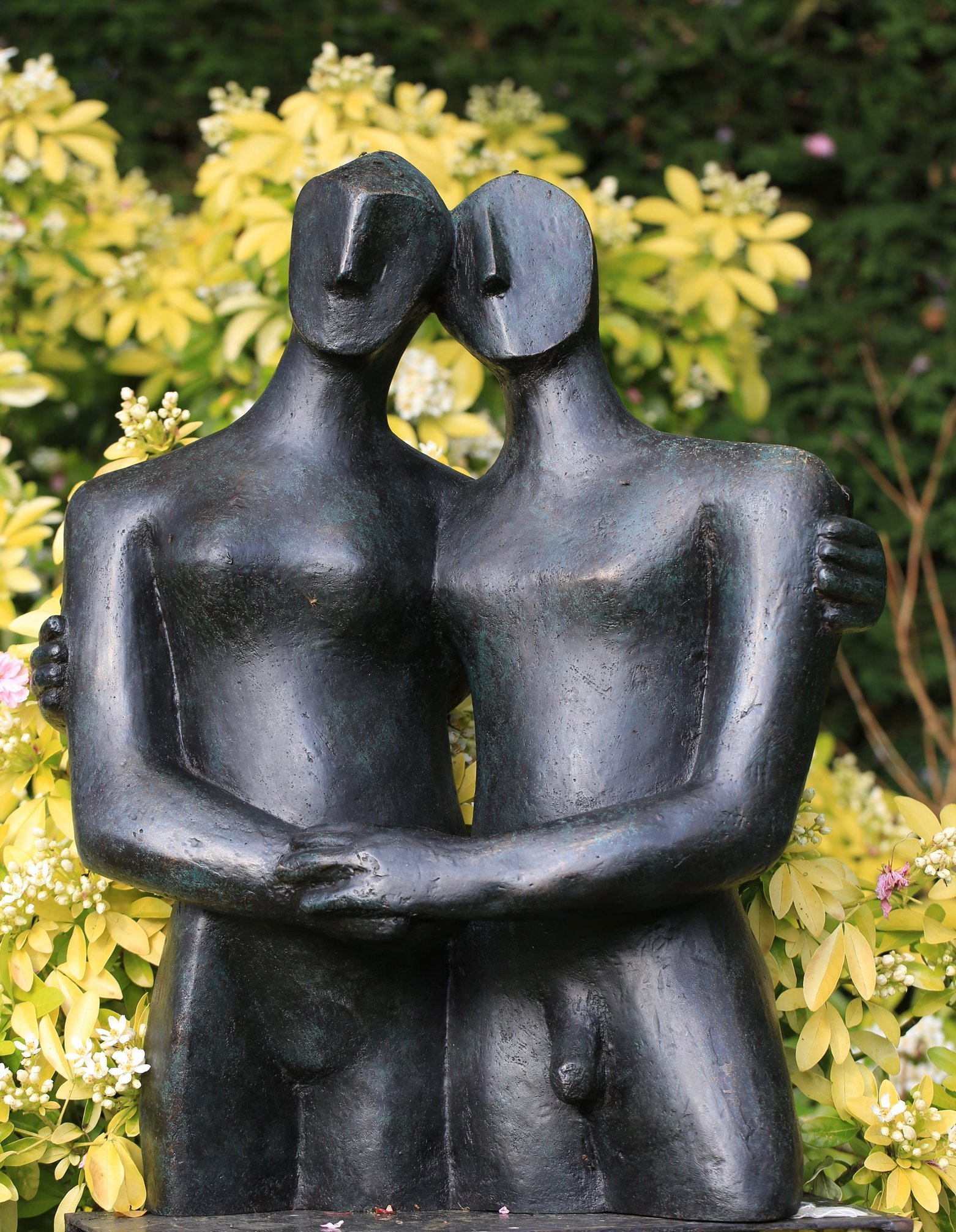 Etruscan couple 1  2005   67 x 60 x 20cm   Bronze Resin  Open Studio 2015  OAW