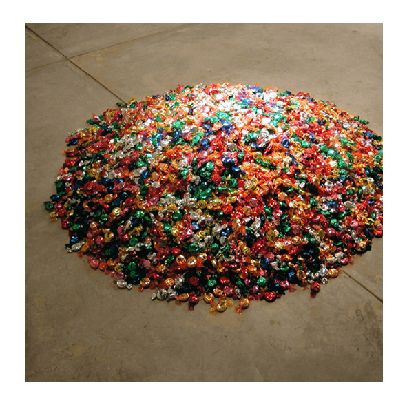 8741 pieces of candy taken from the Untitled (Portrait of Ross in L.A.) 1996
