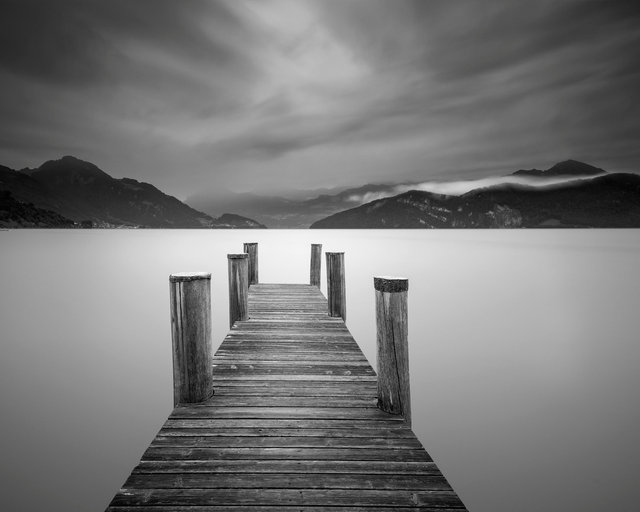 Jetty on Lake Lucerne, Switzerland