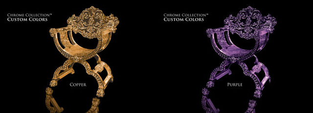 Lion Chair - Copper & Purple