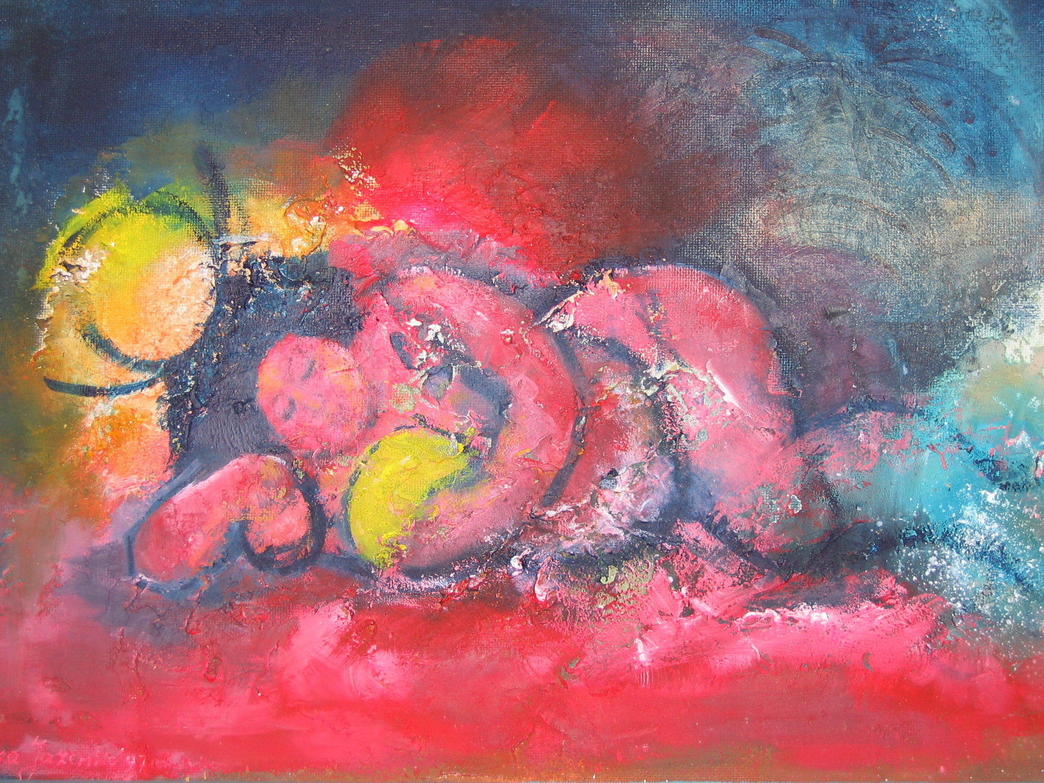 Koesteren in de zon  I olie op paneel50x75.jpg