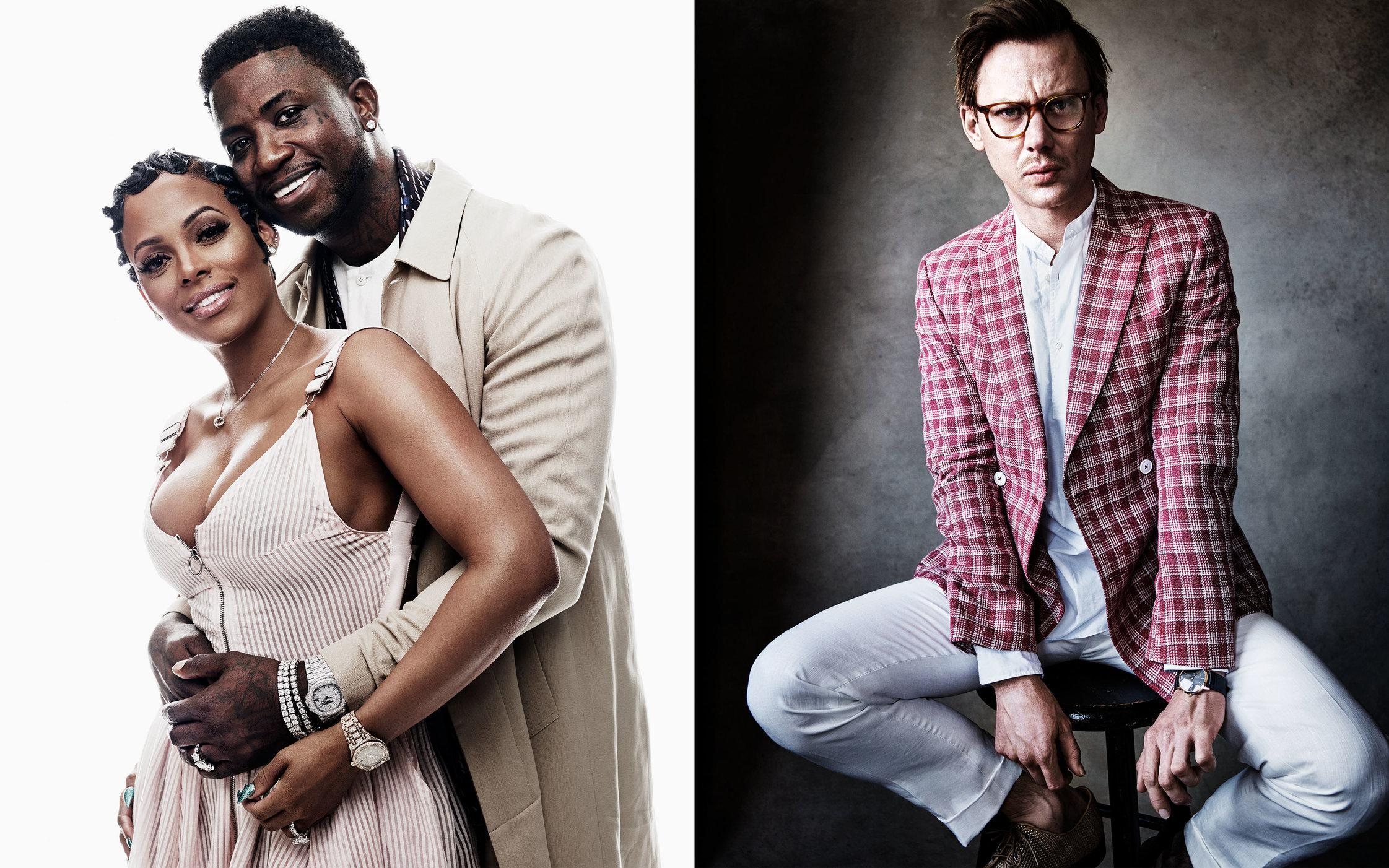 GQ US. Style Portfolio. Gucci Mane, Keyshia Ka'Oir and Jimmi Simpson. March, 2017.