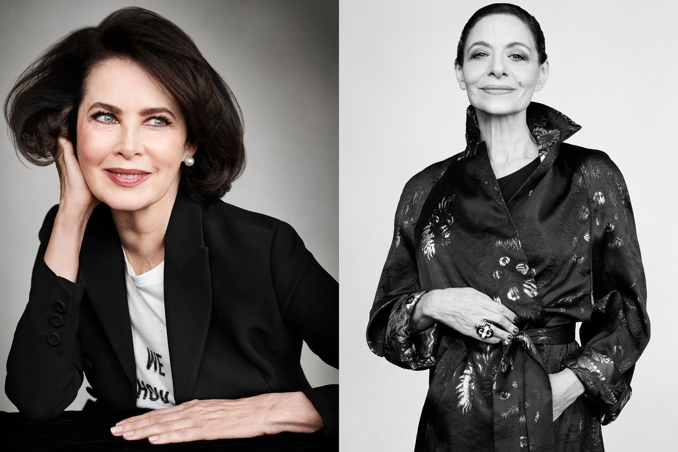 Town and Country. Dayle Haddon and Joan Juliet Buck. Beautiful Minds. May, 2017.