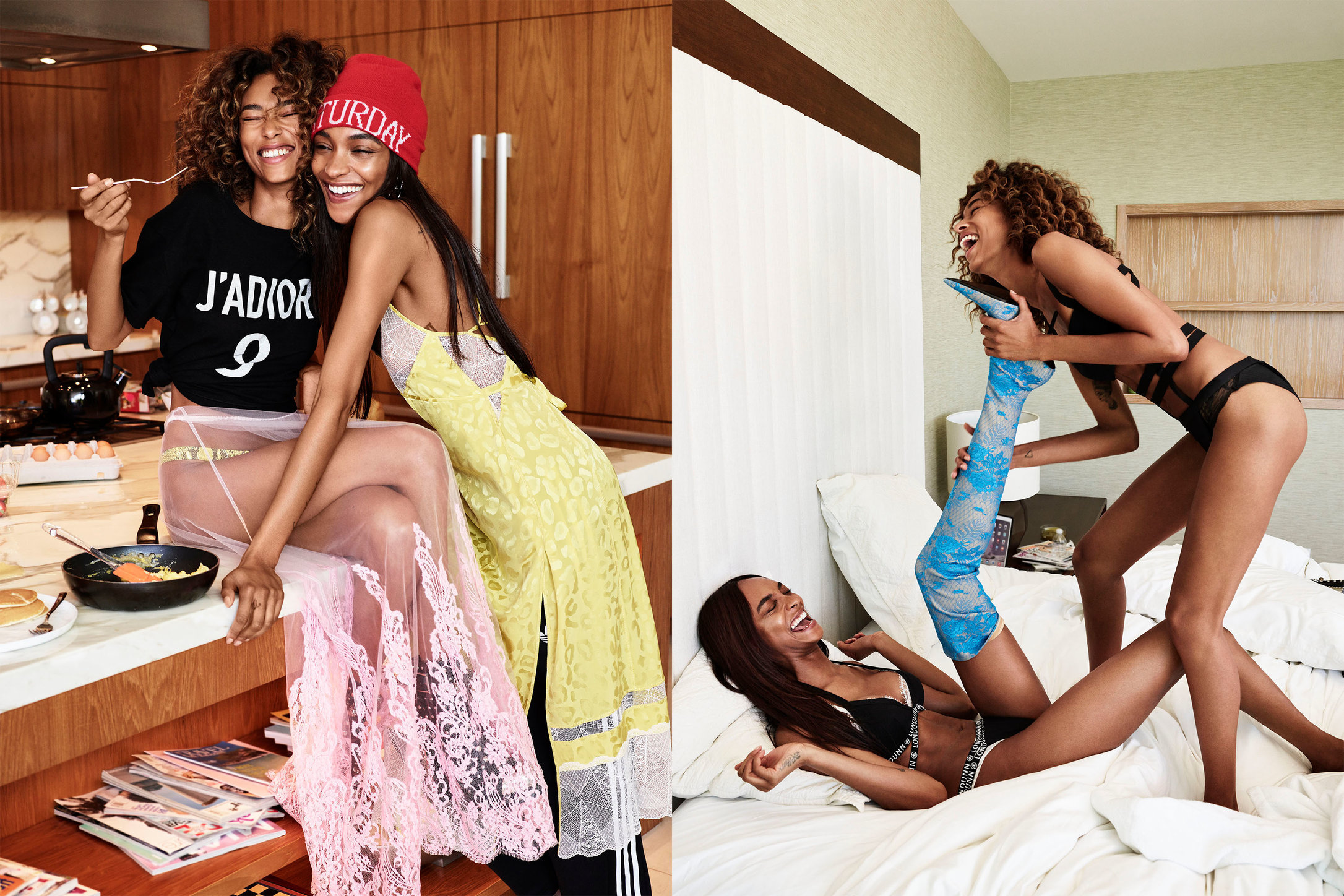 Glamour. State of Undress. Anais Mali and Jourdan Dunn. June, 2017.