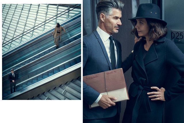 Harper's Bazaar. Maggie Gyllenhaal and Eric Rutherford. October, 2017.