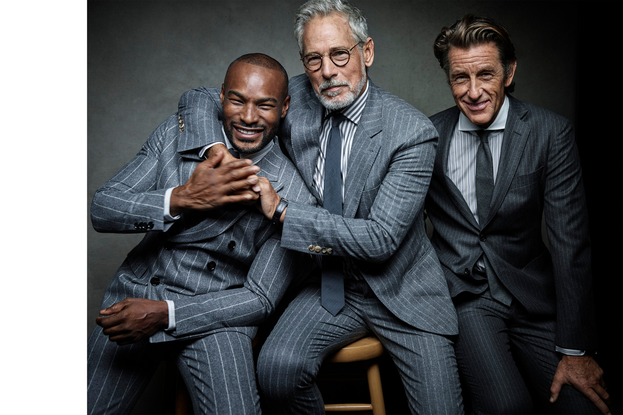 Esquire. Tyson Beckford, Tim Easton and Bruce Whulse. November, 2018.