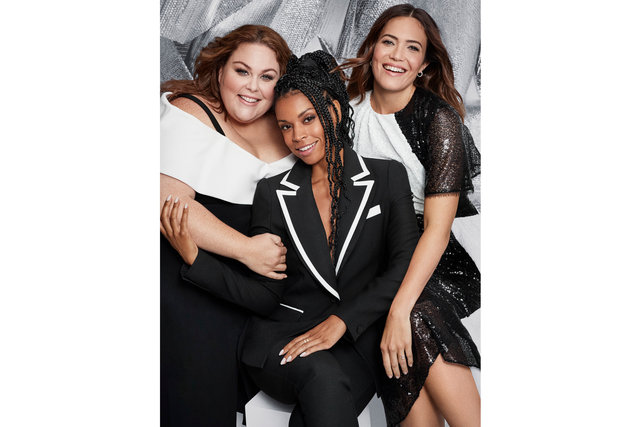 Glamour. This Is Us. Chrissy Metz, Mandy Moore and Susan Kelechiwatson. November, 2018.