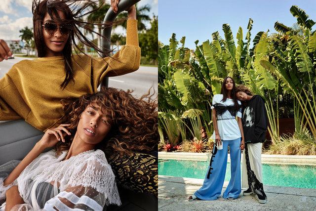 Glamour. State of Undress. Anais Mali and Jourdan Dunn. June, 2017.