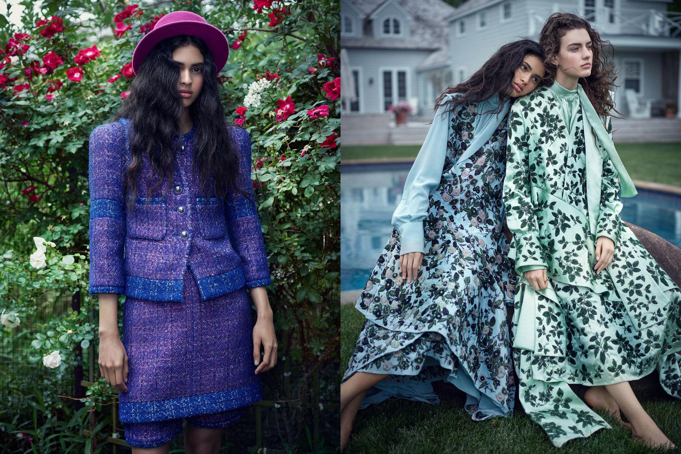 Vogue Japan. Aira Ferreira and Marie Damian. Heaven's Gate, January 2018.